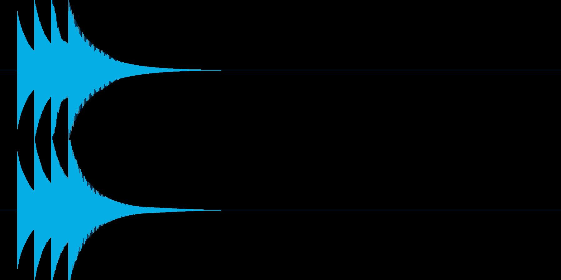 ピコピコーン(正解音)の再生済みの波形