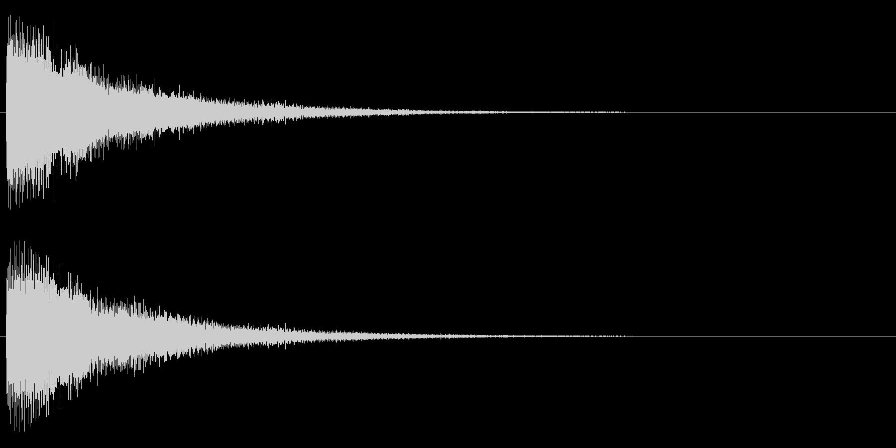 ジャーン(電子的)の未再生の波形