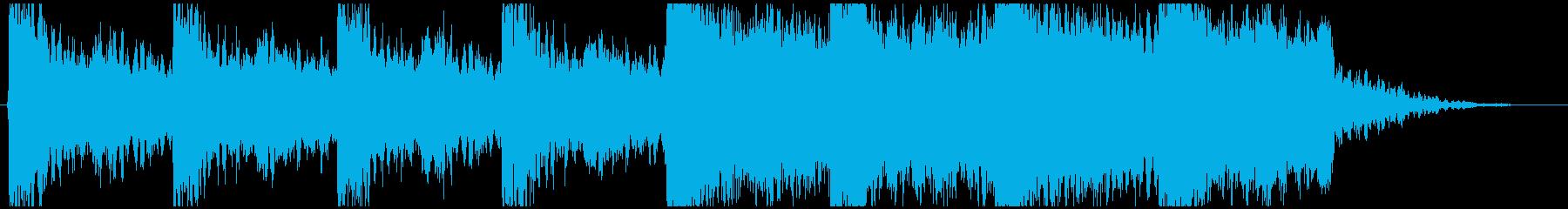 アクション映画予告編風(約30sec)の再生済みの波形