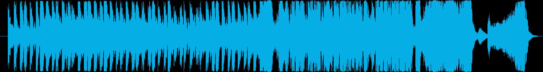 勇ましく力強いミュージックの再生済みの波形