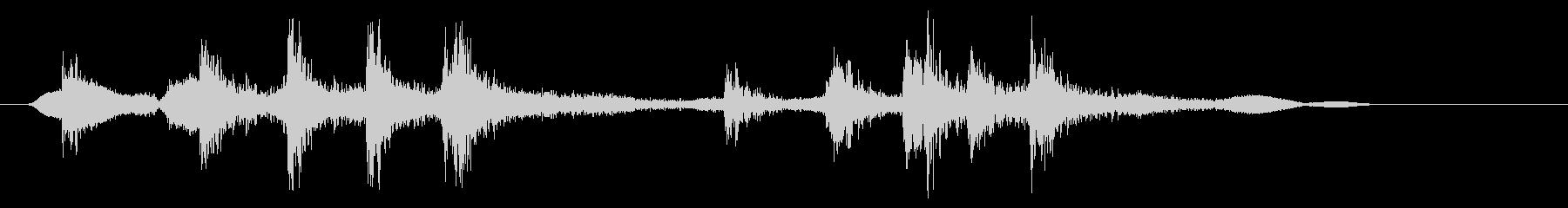 ゼンマイのねじを巻く02の未再生の波形