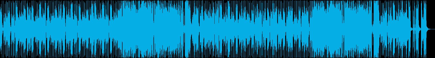 ゆったりクールなファンクミュージックの再生済みの波形