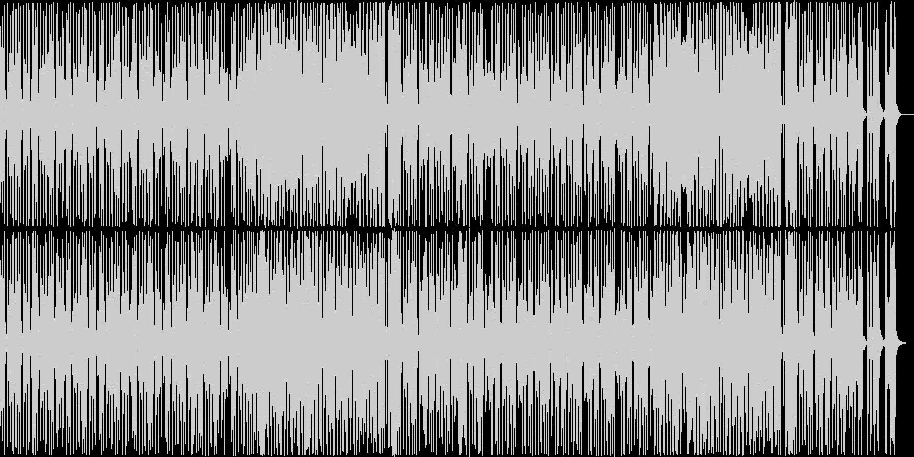 ゆったりクールなファンクミュージックの未再生の波形
