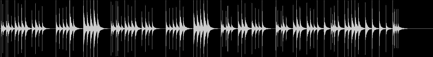 シンプルな木琴の未再生の波形