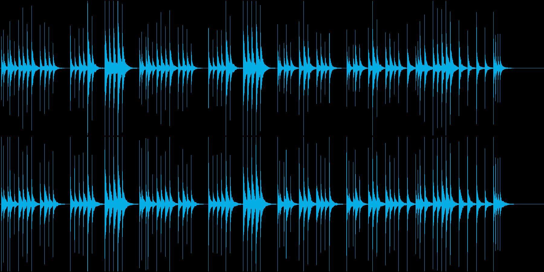 シンプルな木琴の再生済みの波形