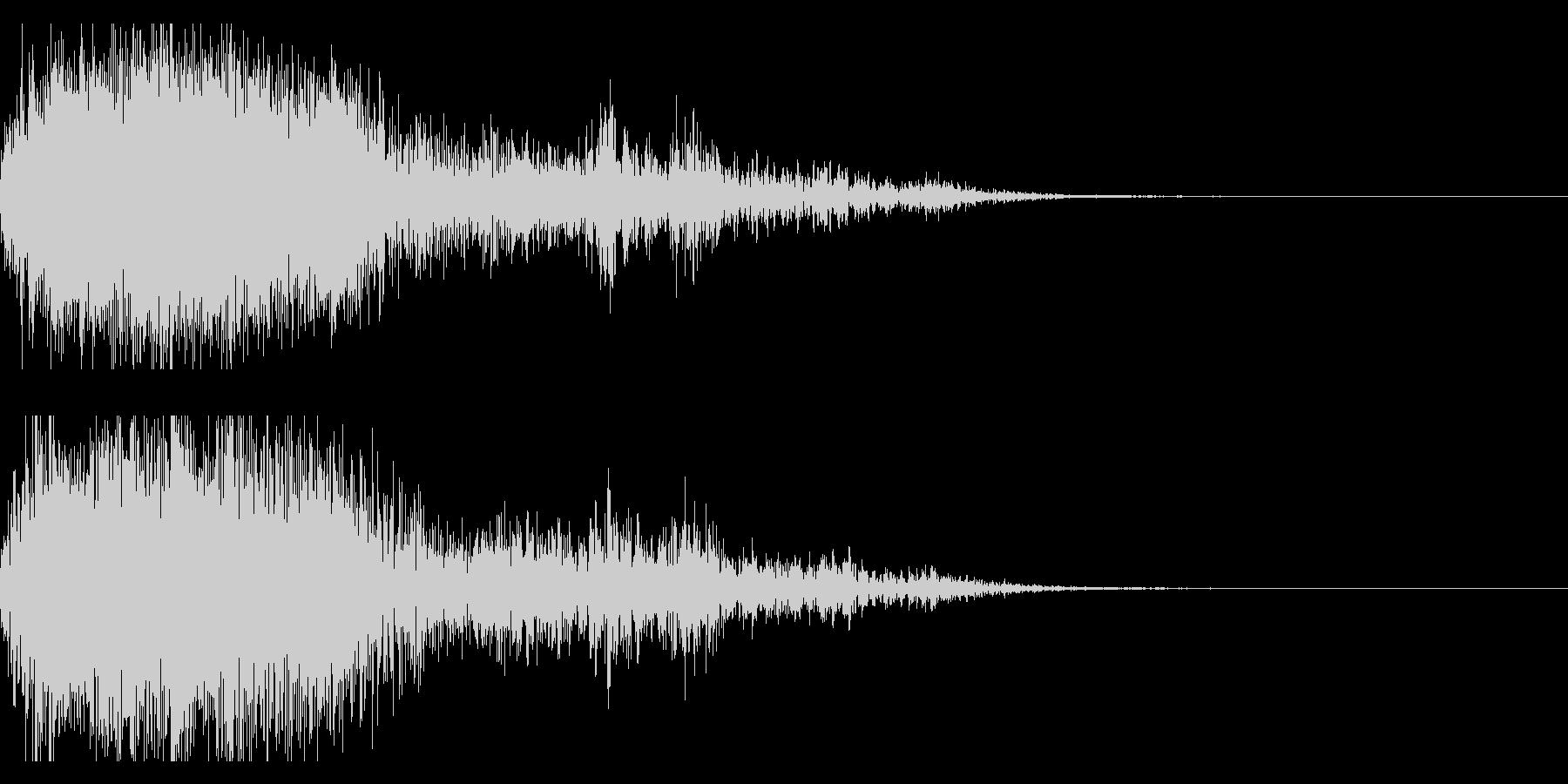 ハッピーニューイヤー ボイス&花火ロゴ2の未再生の波形