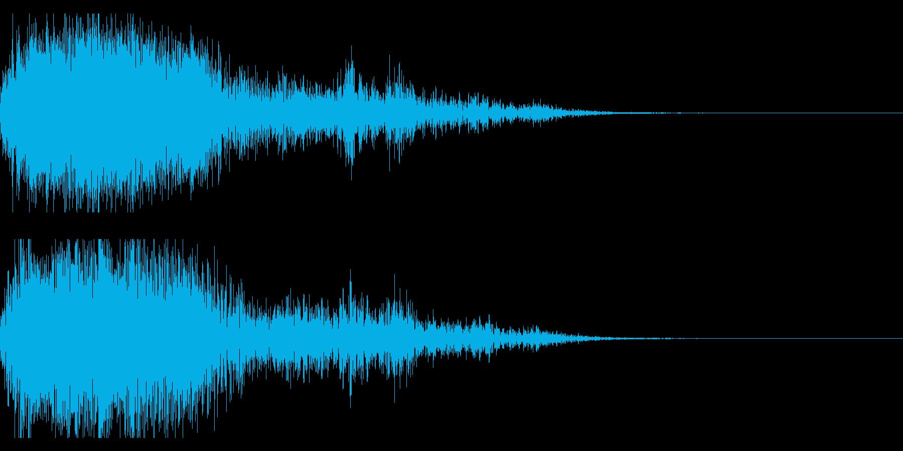 ハッピーニューイヤー ボイス&花火ロゴ2の再生済みの波形
