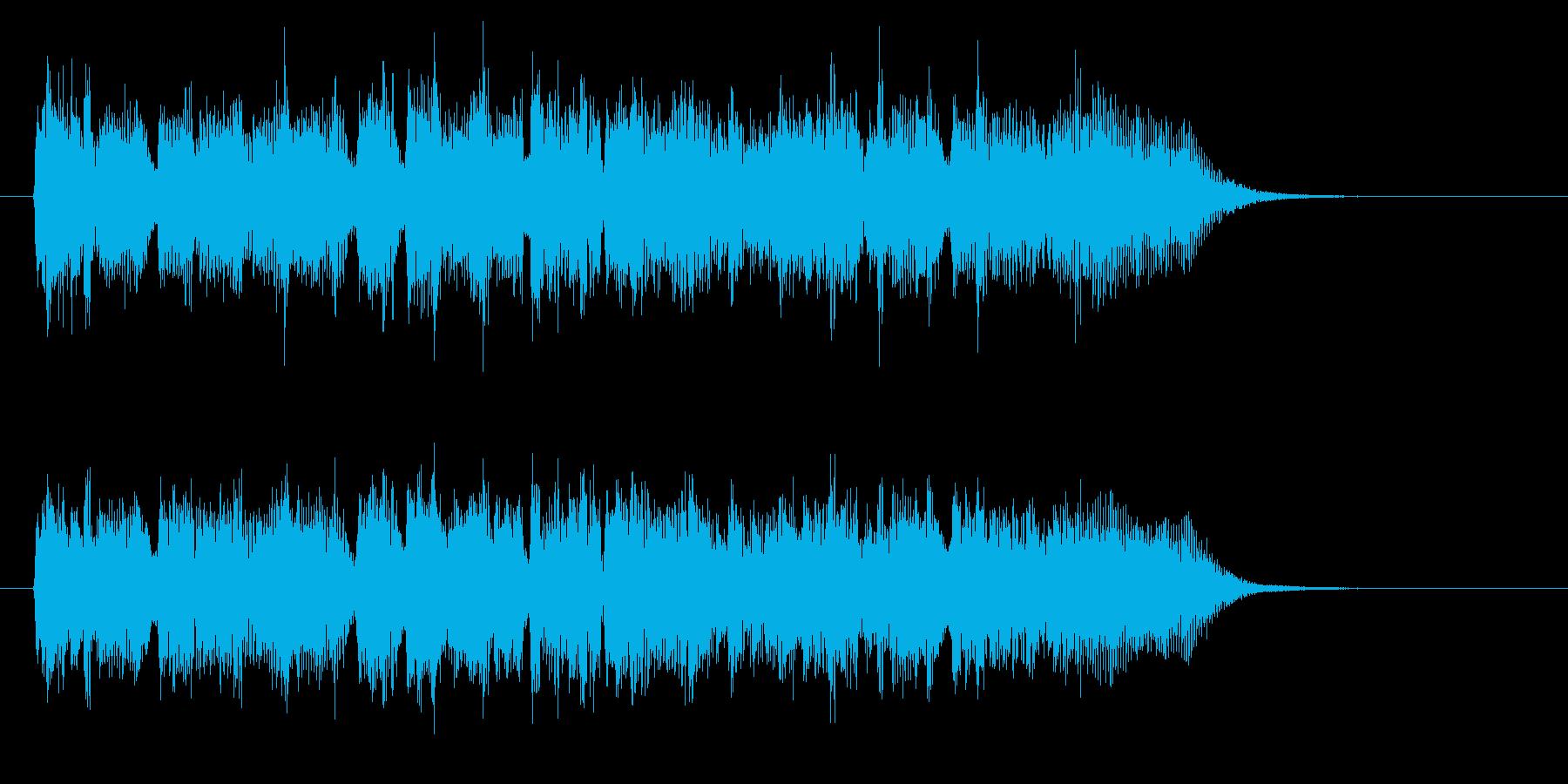 マイナーで不思議なシンセジングルの再生済みの波形