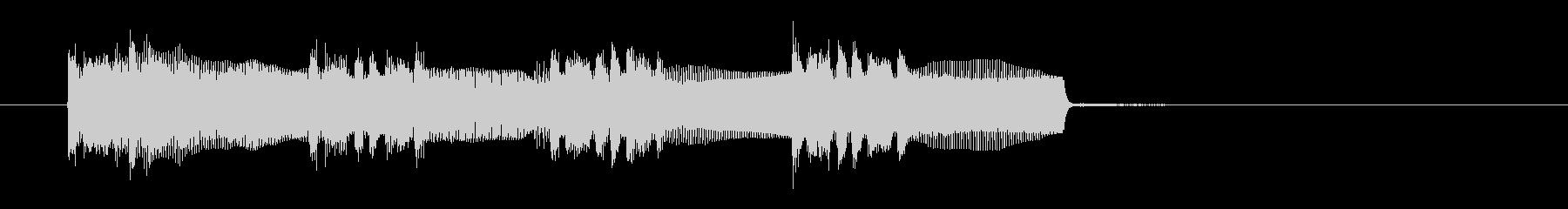 シンセサイザーによる未来的感覚のBGMの未再生の波形