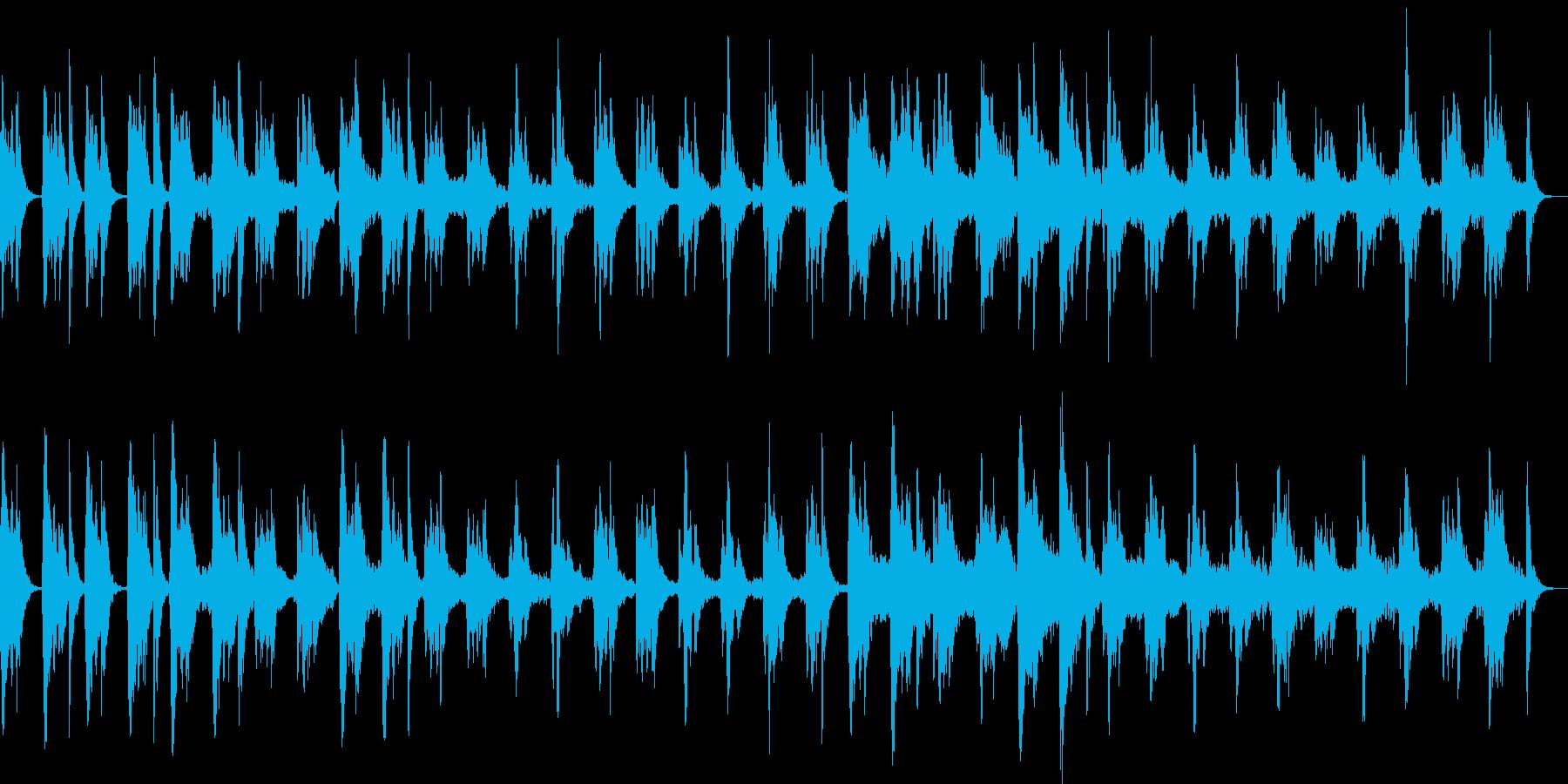 ピッチカートとフルートのこっそり曲の再生済みの波形