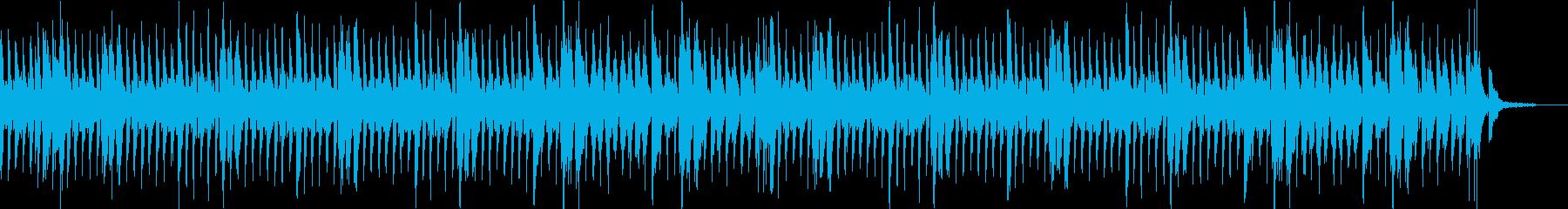 動画の雑談やエンディングに向いたポップスの再生済みの波形