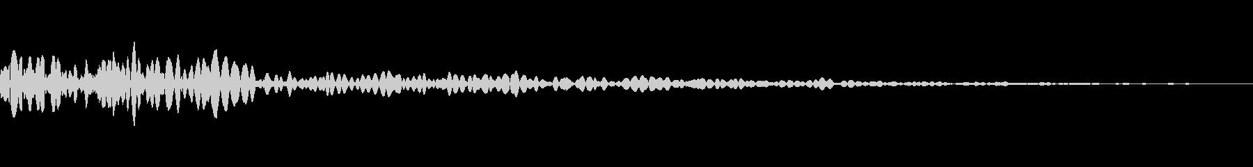 手G弾爆発の未再生の波形