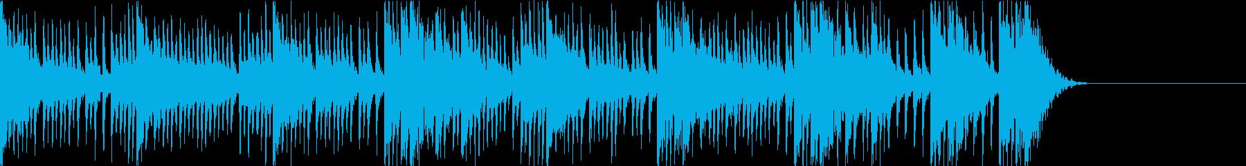 アップテンポな和太鼓乱れ打ち 締太鼓の再生済みの波形