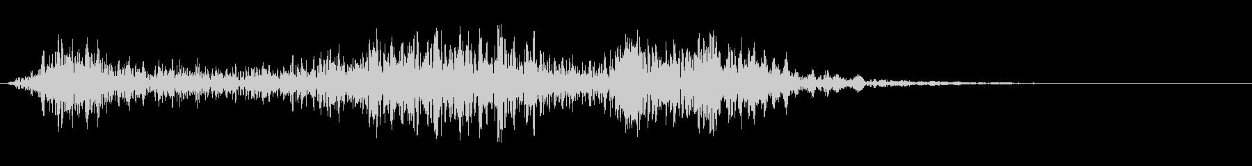 架空のモンスターの鳴き声の未再生の波形