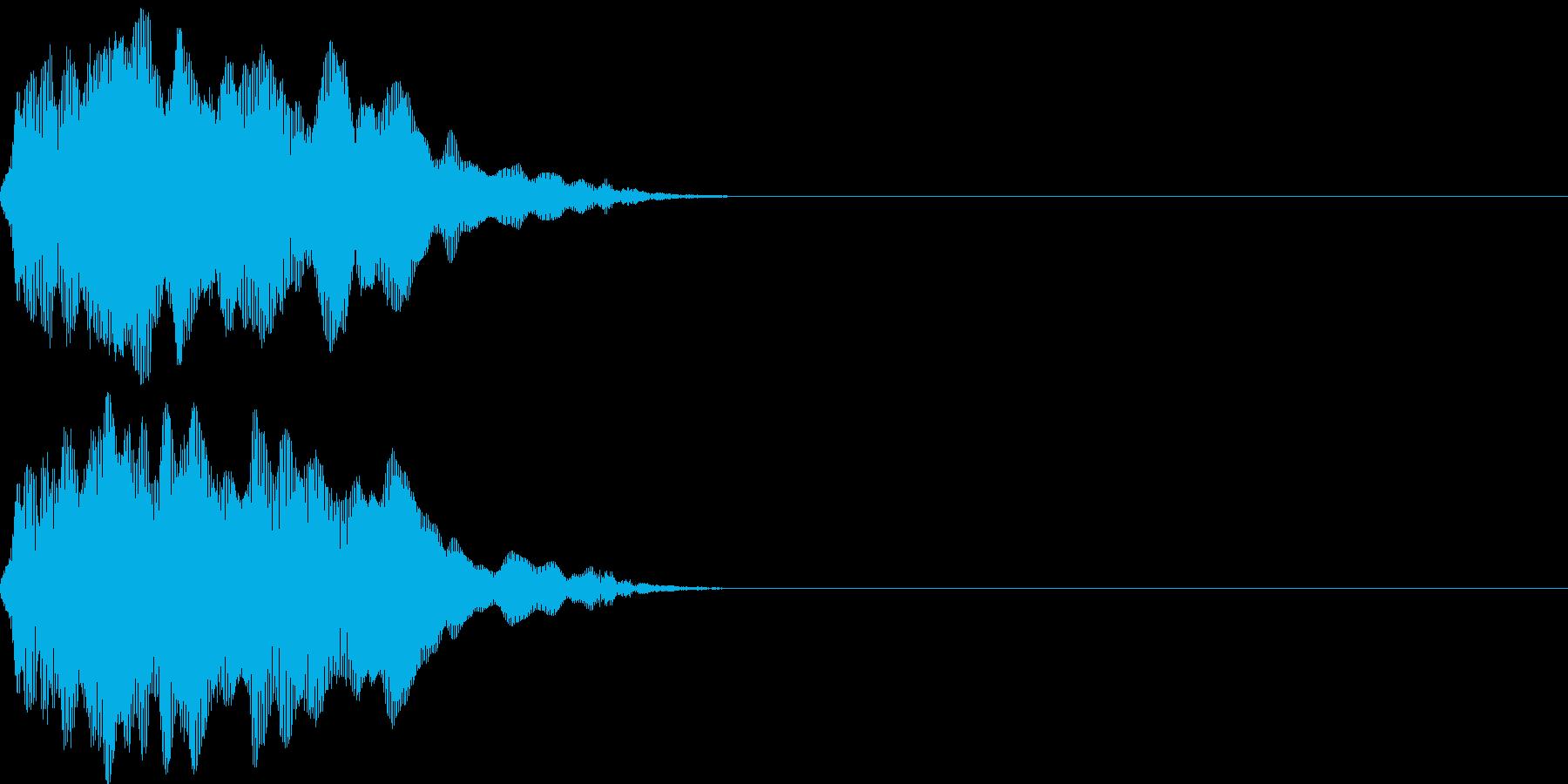 ニャ〜にゃおん!猫の鳴き声 効果音04の再生済みの波形