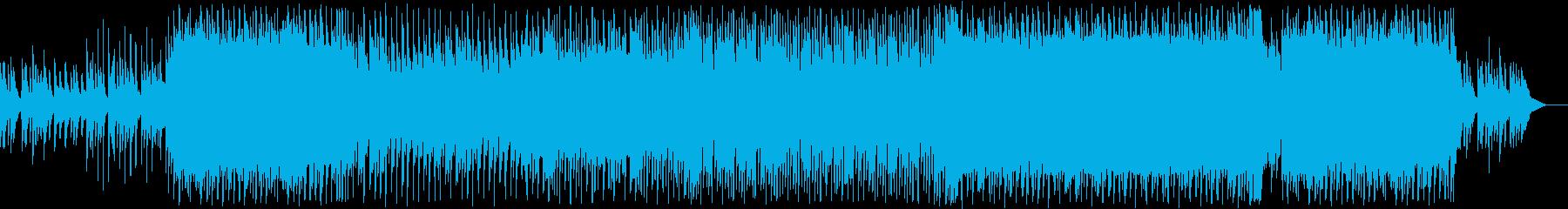 キッズ動画のエンドカードに合う優しい曲の再生済みの波形