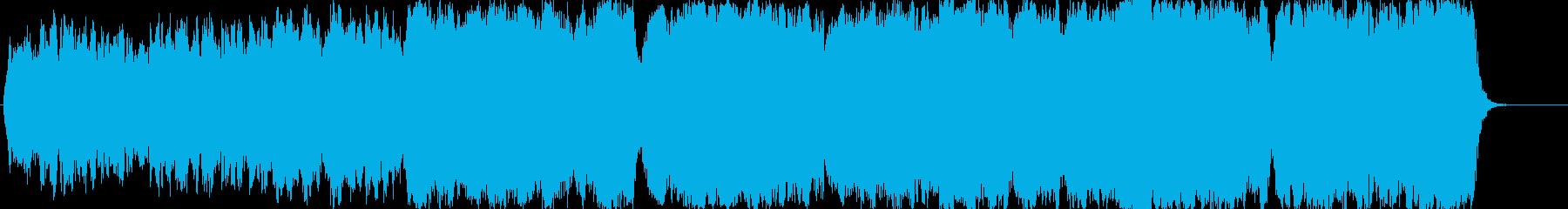 哀愁のあるストリングスオーケストラ曲の再生済みの波形