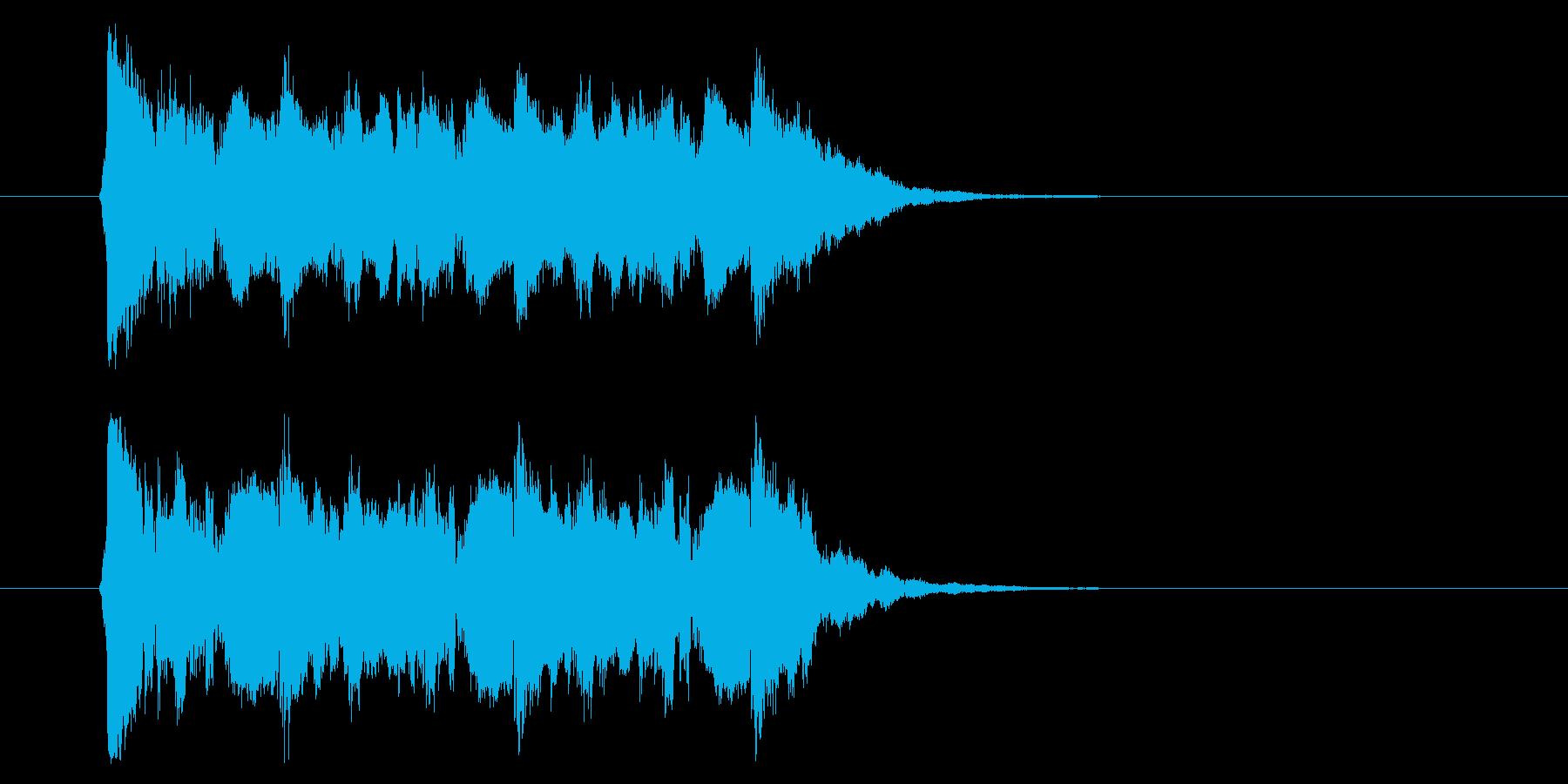 和の素材_お囃子2の再生済みの波形