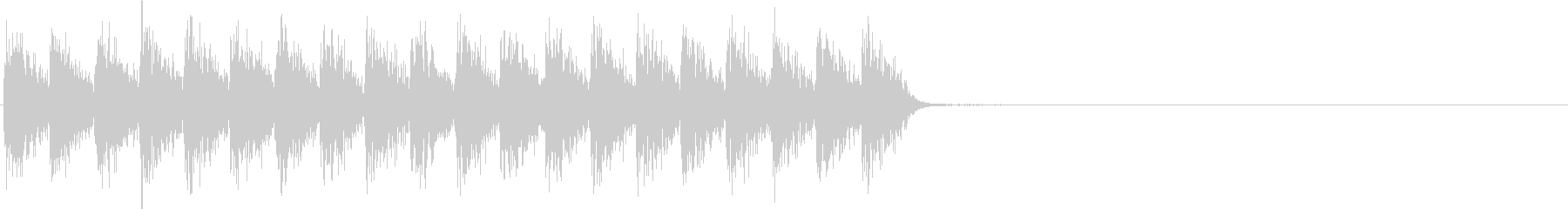 ガガガ...。発砲音G(連射・長め)の未再生の波形