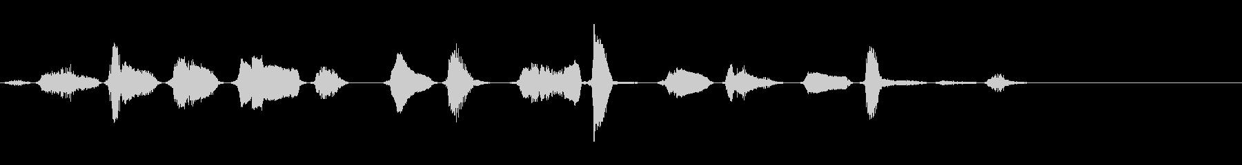 ゾンビ男性呼吸5の未再生の波形