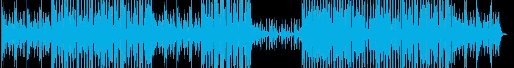 お洒落な雰囲気のあるEDMの再生済みの波形