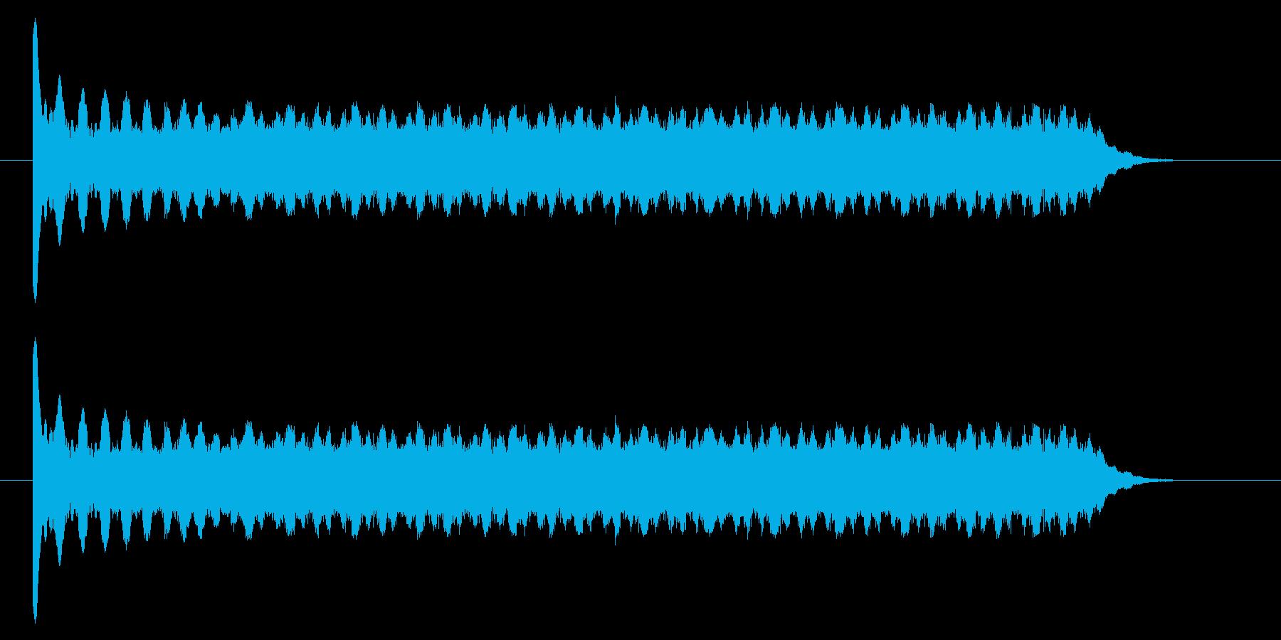 メーター上昇/エネルギー充電のようなSEの再生済みの波形