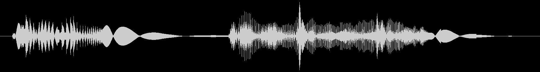 レコードスクラッチの未再生の波形
