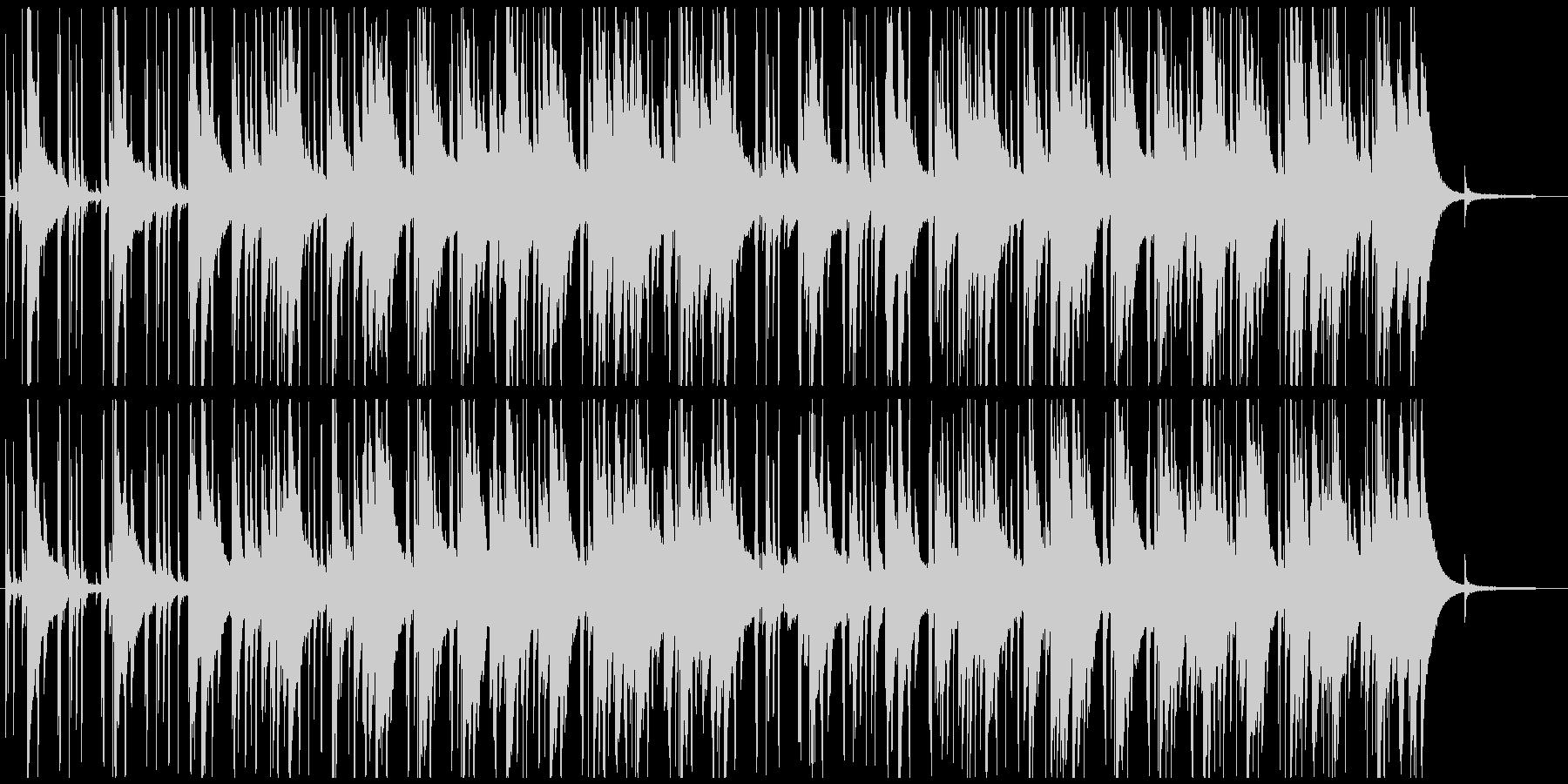 落ち着いた大人っぽいジャズポップの未再生の波形