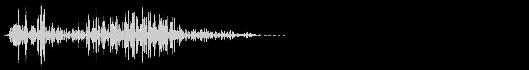 ゲーム掛け声ゾンビ1うめき4の未再生の波形