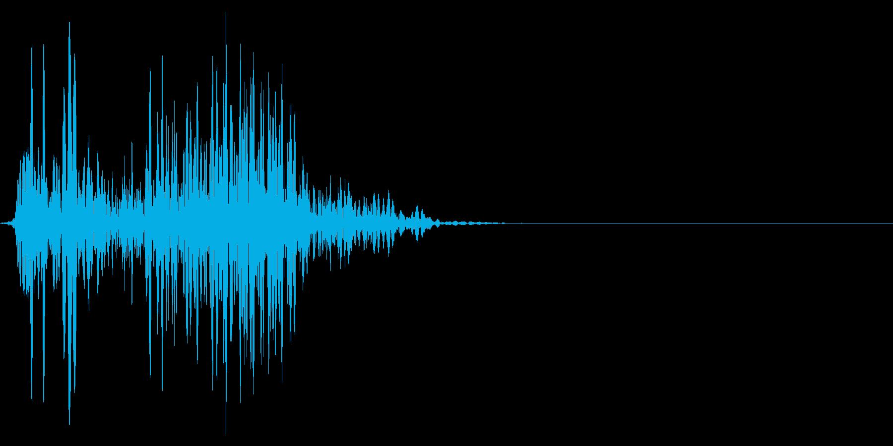 ゲーム掛け声ゾンビ1うめき4の再生済みの波形
