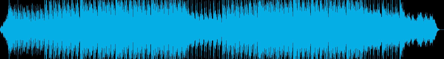 緊迫感漂う壮大なエレクトロニカ風BGMの再生済みの波形