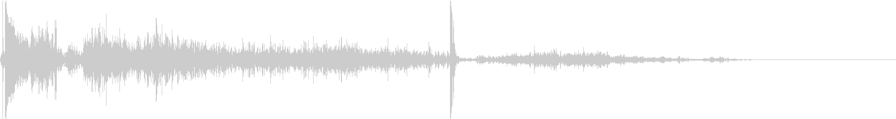 ロケットランチャー発射音の未再生の波形