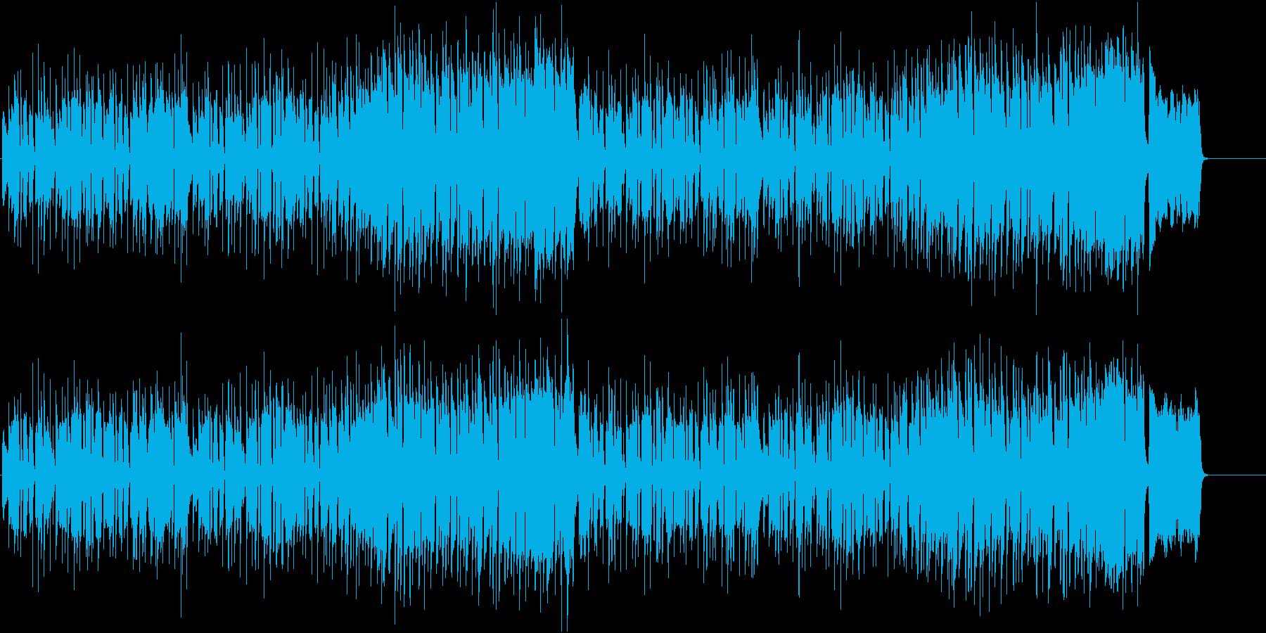 ポップなフルートの映像用BGMの再生済みの波形