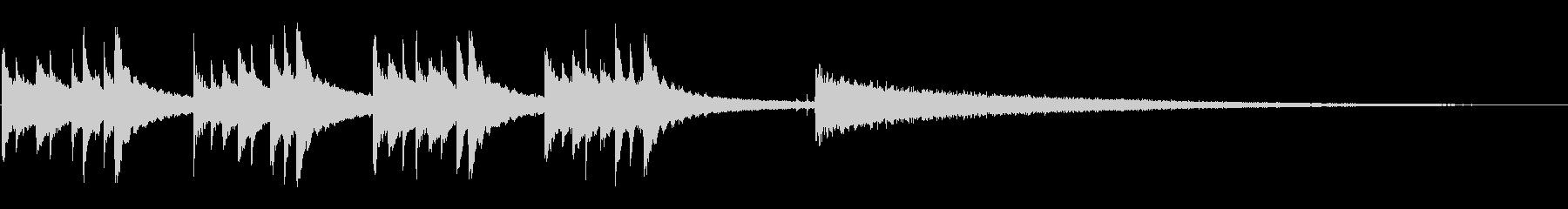 英国の音楽時計:チャイムとストライ...の未再生の波形