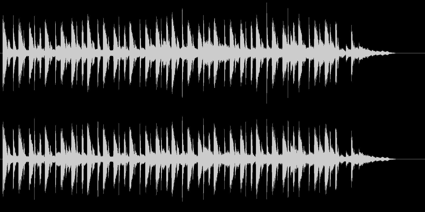 ギターアルペジオとピアノの未再生の波形