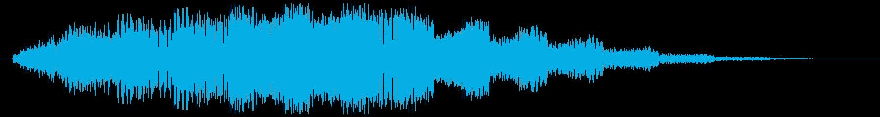 ビヨヨヨヨヨヨンー(飛ぶような効果音)の再生済みの波形