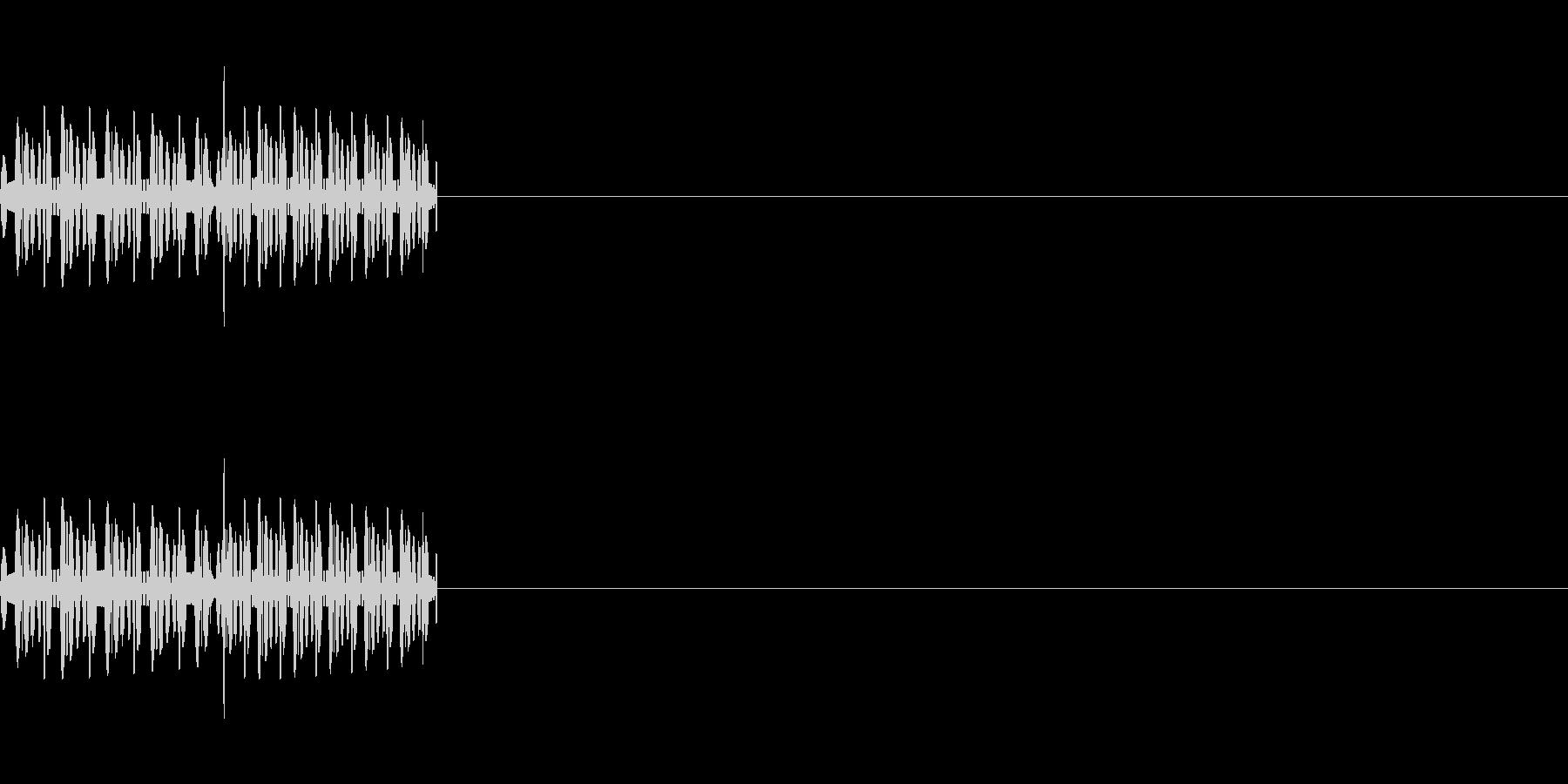 「ピロ」「ビロ」レトロゲーム風攻撃音の未再生の波形