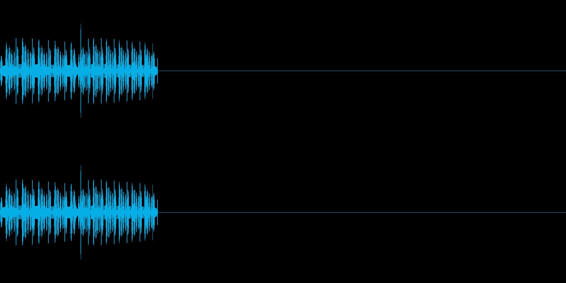 「ピロ」「ビロ」レトロゲーム風攻撃音の再生済みの波形
