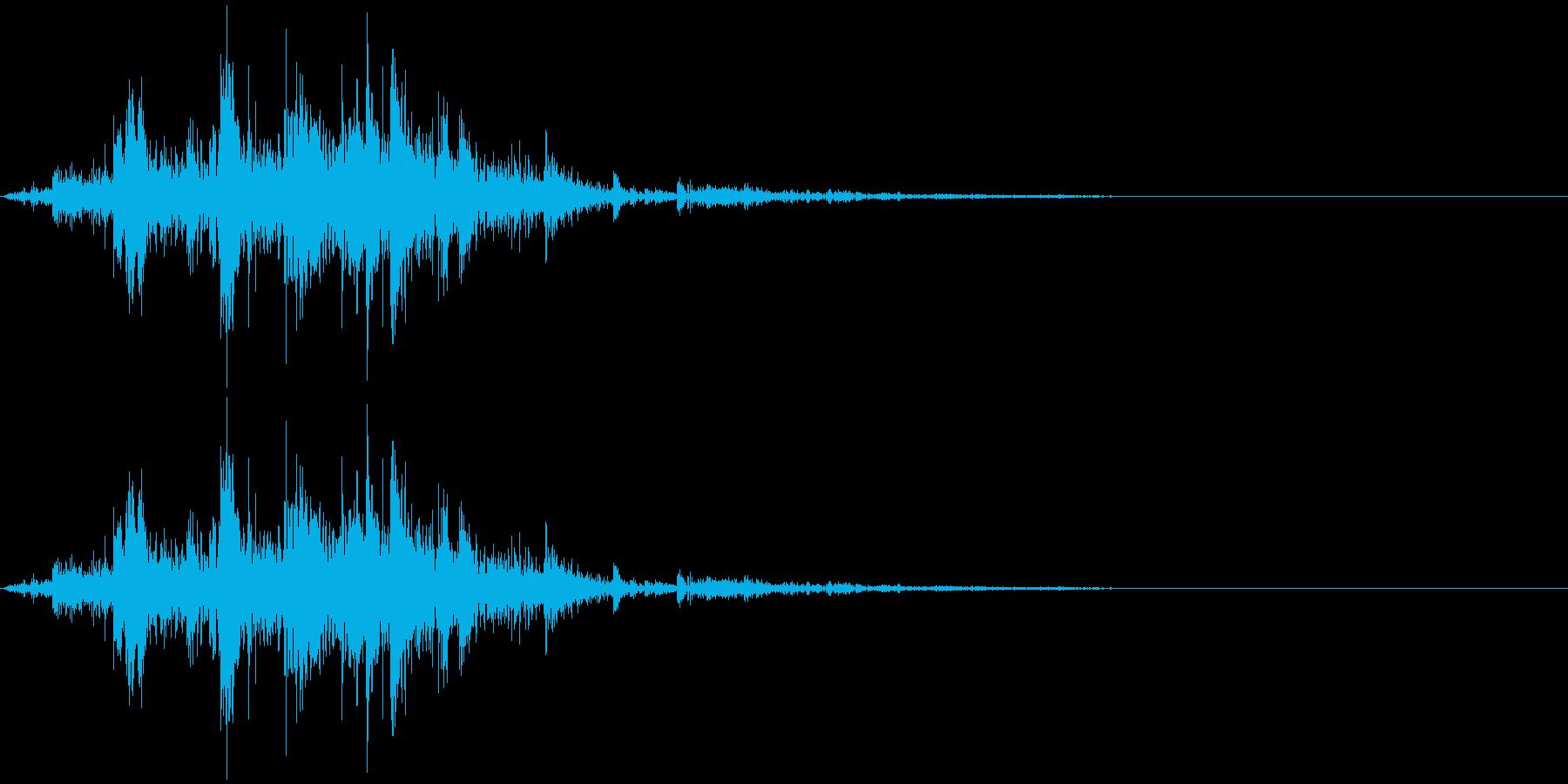 鎖を動かす音14【短い】の再生済みの波形