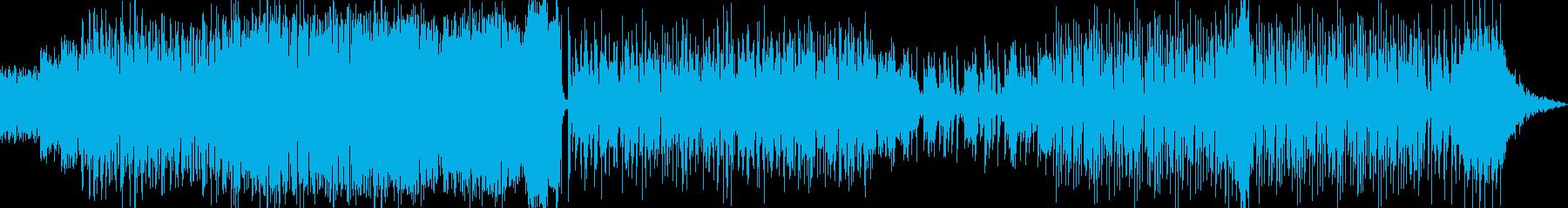 スライムが暴れているようなドラムンベースの再生済みの波形