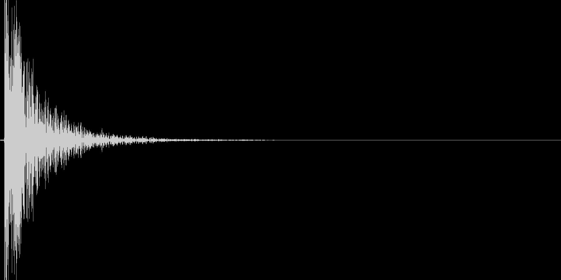 ナックルノックオンタブの未再生の波形