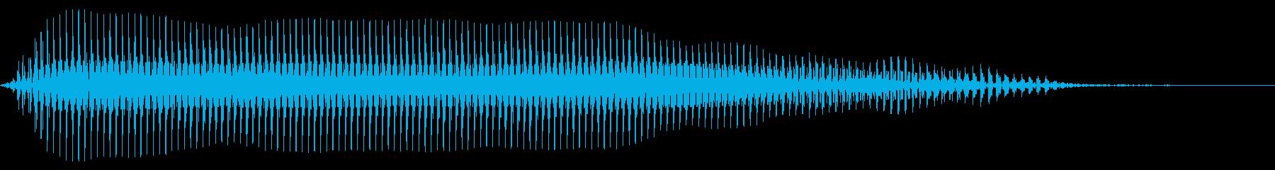 残念 失敗 トランペットの再生済みの波形