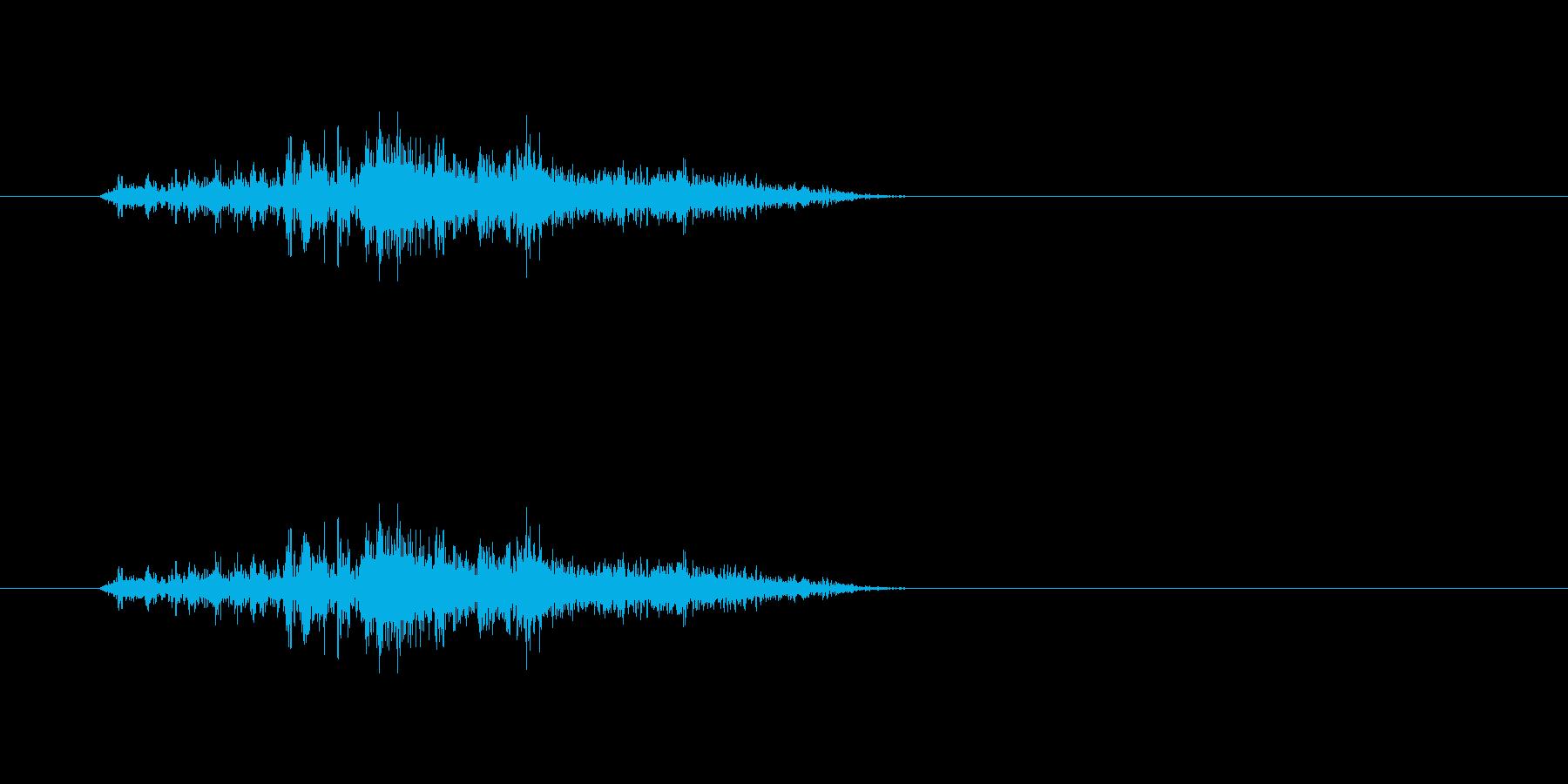 ガラー(扉を閉める音)の再生済みの波形