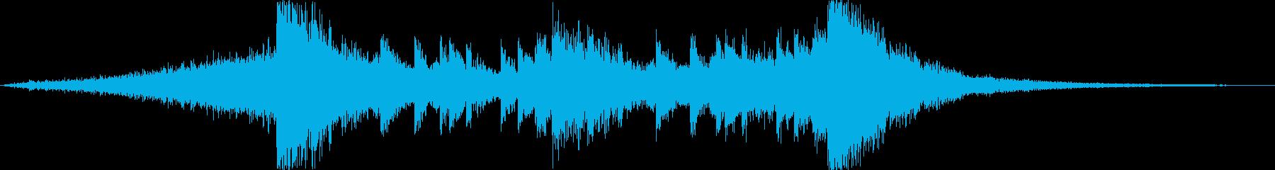 衝撃音のイントロ付きオープニングヒット!の再生済みの波形