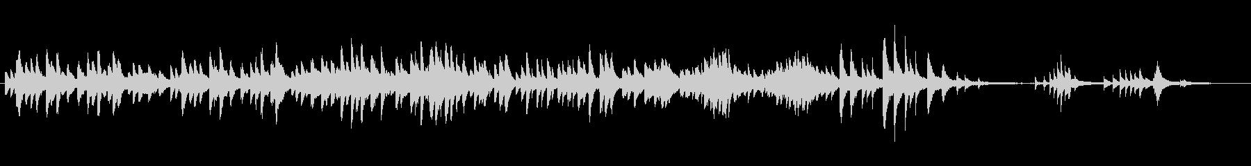 サリーガーデンをスタインウエイ生ピアノでの未再生の波形