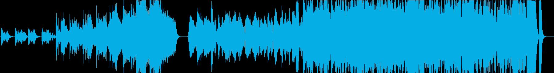 山をイメージした疾走感のあるストリングスの再生済みの波形