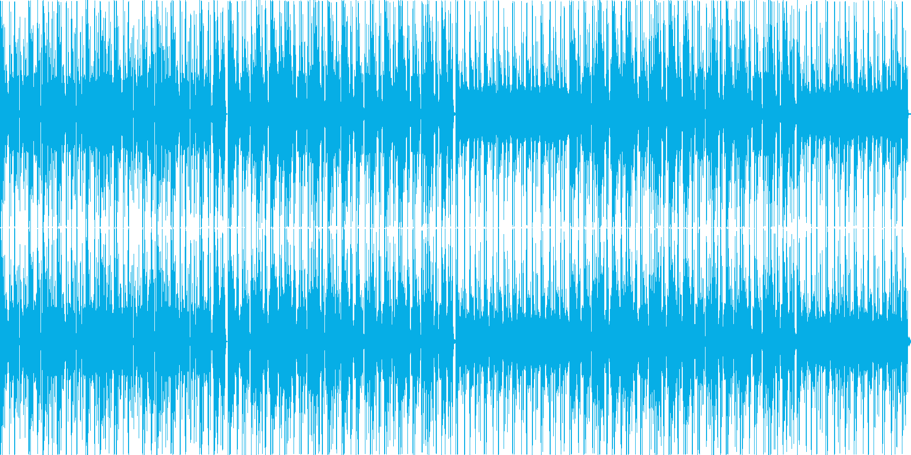ハードボイルドな雰囲気のクールなテクノの再生済みの波形