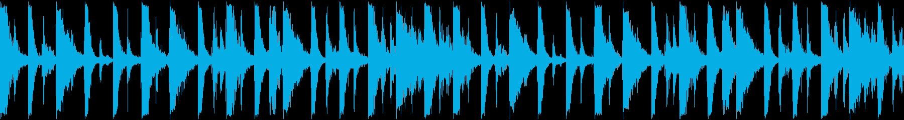 オープニングドラムの再生済みの波形