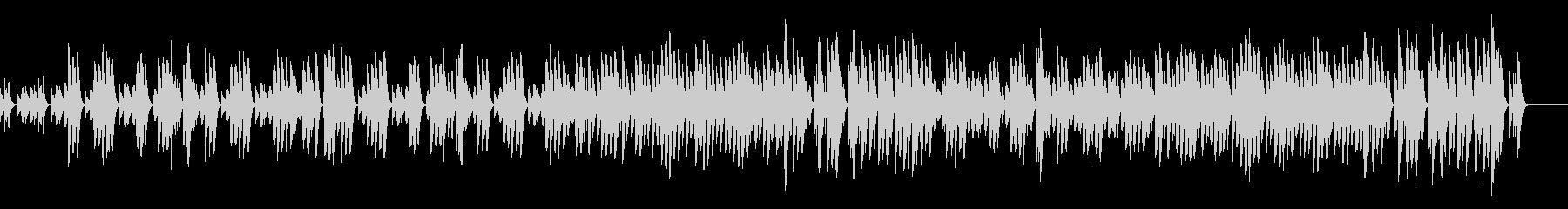 マリンバによるほのぼのとしたBGMの未再生の波形
