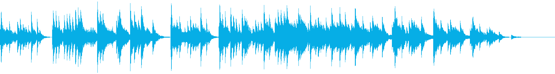 哀愁のある素朴な小曲(ピアノ+シンセ)の再生済みの波形